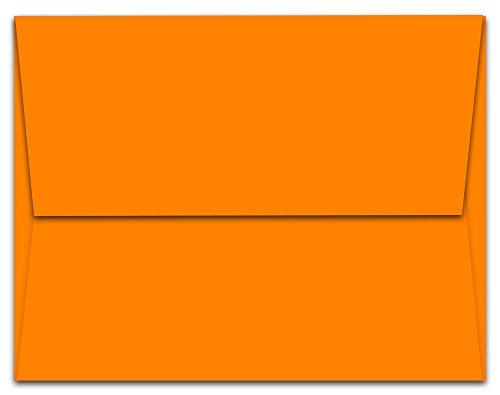 100 Tangerine Zest Orange A7 Envelopes - 7.25