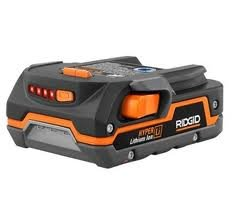 Ridgid Genuine OEM AC840085 1.5 Amp Hour 18V Compact Lithium Ion Power Tool Battery with Onboard Fuel Gauge and Flat Standing Base