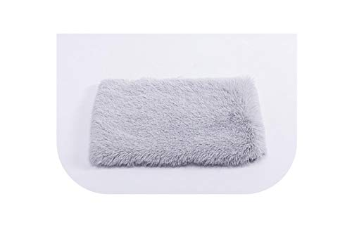 Dog Mat Plush Long Velvet Comfortable Warm Beds for Large Dogs Pink Gray Pets Soft Mat for Photography Pet Bed Dog Bed Mat,Light Gray,40x60cm