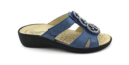 Dame Grünland Intérieure Pantoufles Bleu Blu Amovible Tear CE0591 Grunland Semelle Esta 4FXXO