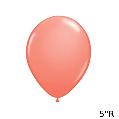 Qualatex 24258 Round Latex Balloon, Coral, 5-Inch, 100-Piece: Toys & Games