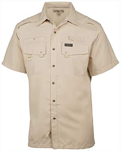 Hook & Tackle Men's Seacliff 2.0 Short Sleeve Fishing Shirt Sand Large