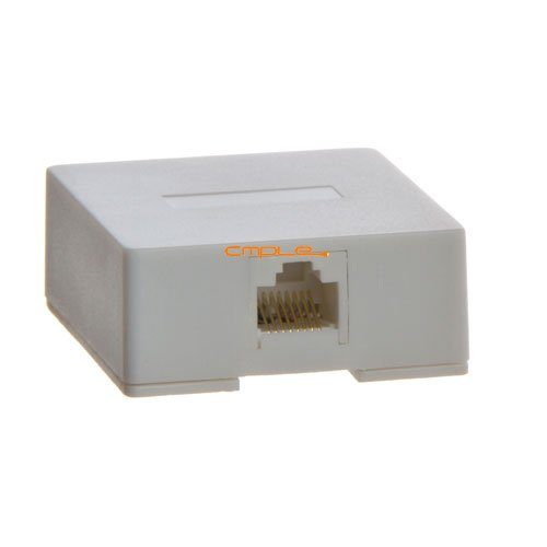 Cmple - Phone Surface Mount Box 8P8C-1port-WHITE 8p8c Phone