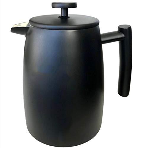 Cafetera De émbolo Hogar Simple empujón Doble Capa de presión de Acero Inoxidable Olla de café Tetera Cafetera De Acero…