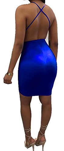 See Color Bodycon Clubwear Women Cromoncent Through Blue Sexy Solid Dress Pleated wUT4W1q0