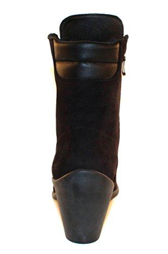 Arche Kvinnor Gasele I Noir Nubuck / Naka Smidigt Läder - Svart / Svart - Storlek 36 M