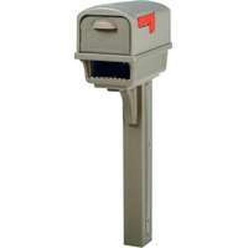 New Rubbermaid Solar Group Gc1m0000 Gentry Mocha Mailbox & Post Dual Door Kit