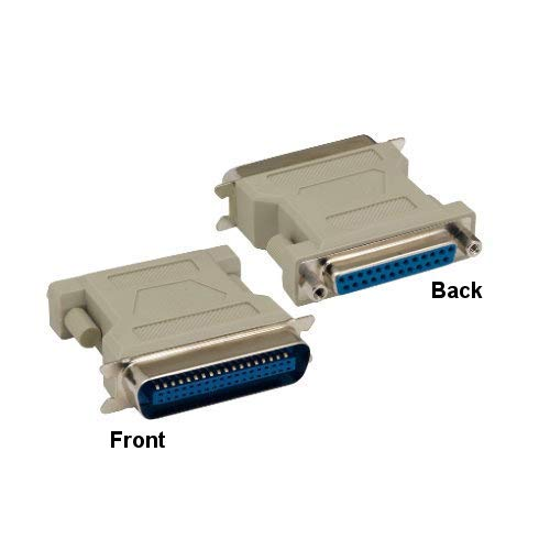 (Kentek DB25 25 Pin Female to CN36 36 Pin Male, Male to Female M/F Molded Centronics Parallel Printer Adapter Gender Changer Coupler RS-232 SCSI )