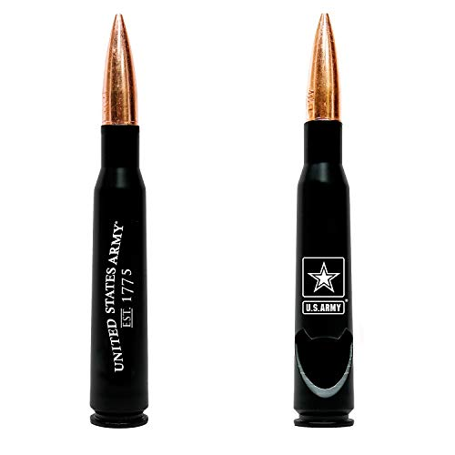 50.Cal Army Bullet Bottle Opener - Previously Fired Army BMG 50 Caliber Real Bullet Casing - Army Soldier Gifts