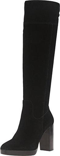 MICHAEL Michael Kors Women's Regina Platform Boot Black Sport Suede Boot 8 M