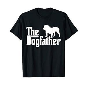 Mens The Dogfather Bulldog/ Men's English Bulldog Dad T-Shirt 48