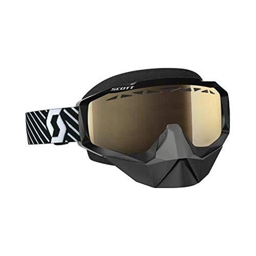 Scott Hustle Adult Off-Road Motorcycle Goggles - Black/White/Light Sensative Bronze Chrome/One