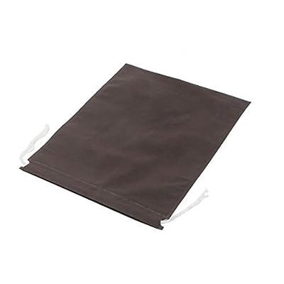 Roupa viagem Shoes Armazenamento Drawstring Bag Pouch 40x30cm Coffe Cor