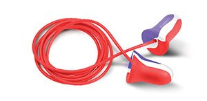 MAX Earplugs - MAX USA, corded, polybag - (3 Packs; 100/Pack) - R3-MAX30-USA by Howard Leight