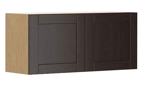33x15x12.5 in. Barcelona Wall Bridge Cabinet in Maple Melamine and Door in Dark Brown ()