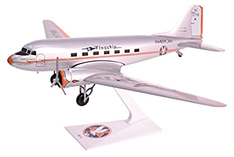 American Flagship Knoxville DC 3 Airplane Miniature Model Plastic Snap Fit 1200 Part