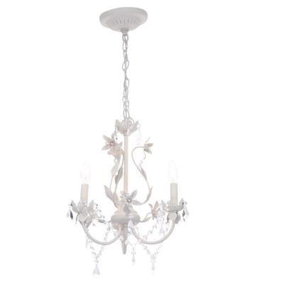 "Kristin 3 Light Hanging Antiqu 19""h x 15""w x 15""d Antique White"