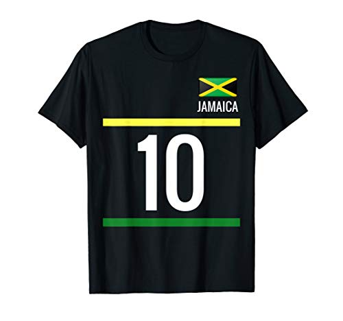 (Jamaica Soccer T-Shirt - Jamaican Football 10)