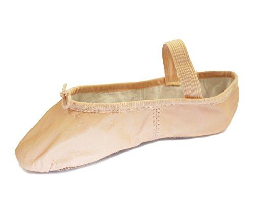 BLOCH Kinder Arise, Ballettschläppchen Leder, Chromleder Sohle. Haut (Lachs) Haut (Lachs) 34 EU