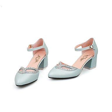 LvYuan Mujer-Tacón Robusto-Otro-Sandalias-Oficina y Trabajo Vestido Fiesta y Noche-PU-Azul Rosa Blanco Pink