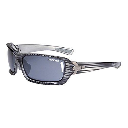 Tifosi Mast 0020302634 Wrap Sunglasses,Grey Stripe Frame/Smoke Lens,One Size