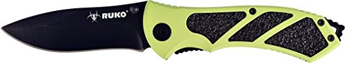 "RUKO 061HG 8"" Folding Knife with Green Handle"