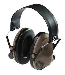 3M Peltor Soundtrap Slimline Electronic Headset Olive Green - Headband Model