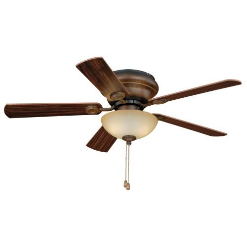 Vaxcel F0024 Expo Flush mount Ceiling Fan, 42″, Aged Walnut Finish For Sale