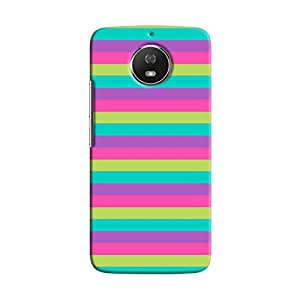 Cover It Up - Pink,Green&Cyan Moto G5sHard Case