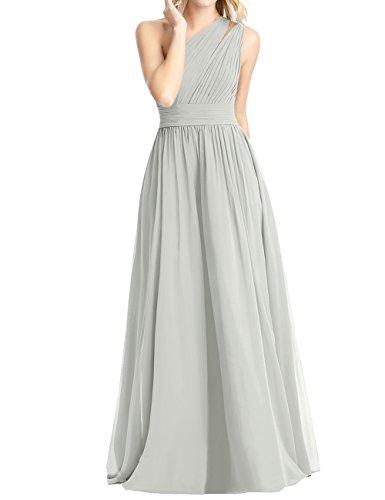 Türkis A One Shoulder Ballkleider Brautjungfernkleider Chiffon Asymmetrisch Lang Kleider Hochzeit Rückenfrei Abendkleider Falten Linie 6O0wqZd