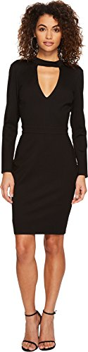 Adelyn Rae Women's Laila Bodycon Dress Black/Nude Small by Adelyn Rae