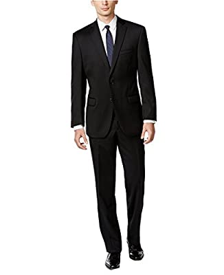 Calvin Klein Men's Modern-Fit Solid Wool Suit
