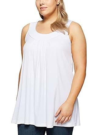 My Size Women's Plus Size Plume Singlet, White, Large