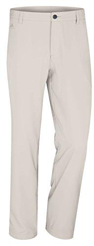adidas Golf Men's Climalite 3-Stripes Tech Pant, Ecru, 32/32-Inch (Adidas Golf Mens Climalite 3 Stripes Tech Pant)