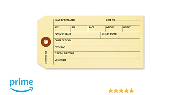 SmartSign Coroner and Funeral Toe Identification Tags | 2 625