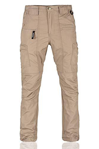 (Konvoy Slim Rip-Stop Cargo Pants, Military Apparel & Work Gear Khaki)