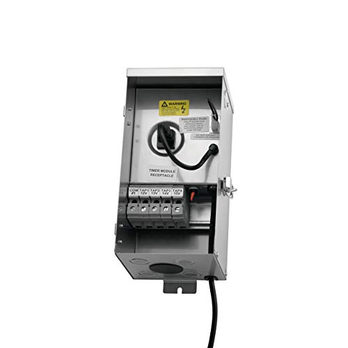 Kichler Lighting 15CS150SS Contractor Series - 150W Transformer, Stainless Steel Finish - Series Stainless Steel Landscape Transformer