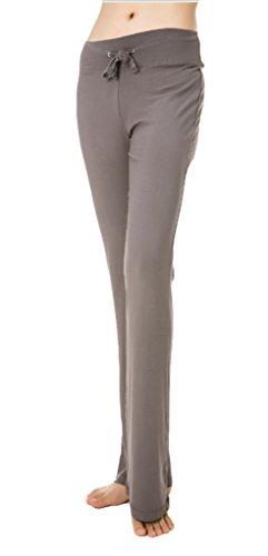 Cloudy Women's Modal Wide Leg Yoga Pants Linear Self Tie Waist, Multiple Colors Available(Dark Grey,US XL/Asian XXXL)