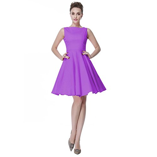 0s 50s Dress Hepburn Style Retro Rockabiily Cocktail XXL PP (Polka Dot Cocktail Dresses)
