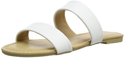 Head Over Heels Lagunas, Tongs Femme Blanc (White/Synthetic)