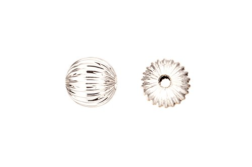(Round Corrugated Bead Silver-Plated Brass 10mm Sold per 20pcs/pack (3pack bundle), SAVE $2)