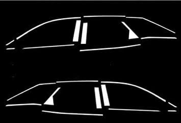 Juego Completo: Acero Inoxidable LISTONES para Barras de Ventanas/2 x 11 Unidades Accesorios Tuning Cromo: Amazon.es: Coche y moto