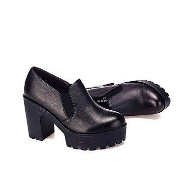 Noir Café Cuir 12 Chaussures Talons Gros ggx Printemps Femme cm black Automne Talon amp; LvYuan plus à UPqvT7w