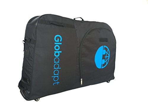 Globadapt 5 wheeled bike travel bag | More wheels and straps to pull the bag along instead of lifing| Suitable for bikes of all sizes with additional internal strapping for ()