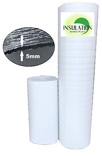 "SmartSHIELD -5W - White Reflective Foam Core Insulation roll, Radiant Barrier, Thermal Insulation Shield -5 mm (48""x 50"