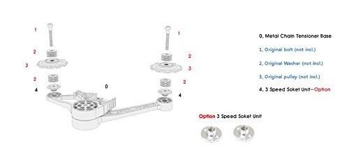 Nov 1/3 speed ultra light weight magnesium tensioner for Brompton Folding Bike - Dino Kiddo by Dino Kiddo (Image #3)