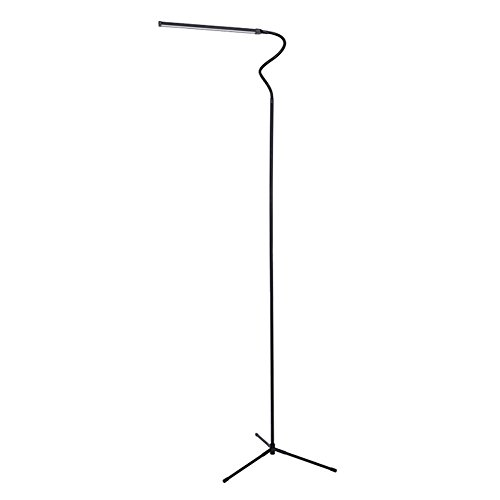 FELICON Dimmable LED Reading Floor Lamp Standing Gooseneck with USB Line 6W 600 Lumens Brightness 3500K Warm Light 6000K Cool White Light for Livingroom Table Work Bedroom White