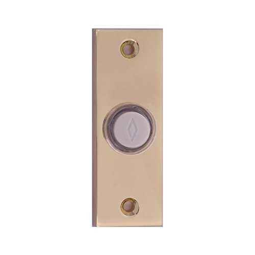 Atticus Electronics Wired Push Button (3312PB) for Doorbells in Polished Brass Finish