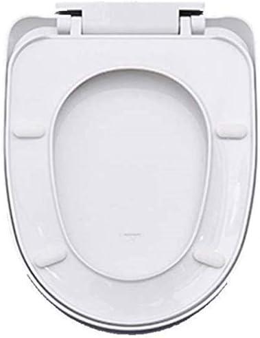 Yxsd Uが便座ホワイトの形状は抗菌PPボードと便座は、34.5 * 41〜43.5センチメートルをミュートウルトラ耐性トップマウントトイレのふたをスローダウン
