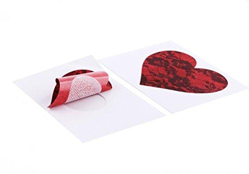 gonfiaggio gli reggiseno adesivi dei pasties del sexy della coprono del a amore Cuore cappelli rosso adesivi seno I macchia FCxqpC